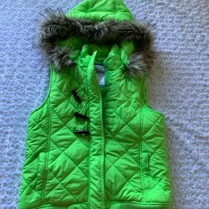 Justice Size 16 green Puffer vest